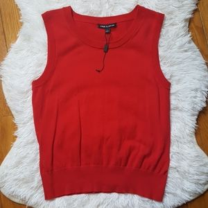 Cable & Gauge Red Knit Top Size Small NWOT